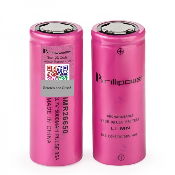 BRILLIPOWER BATTERY IMR 26650 5000MAH 85A