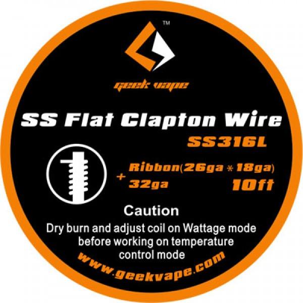 GEEKVAPE SS316L FLAT CLAPTON WIRE