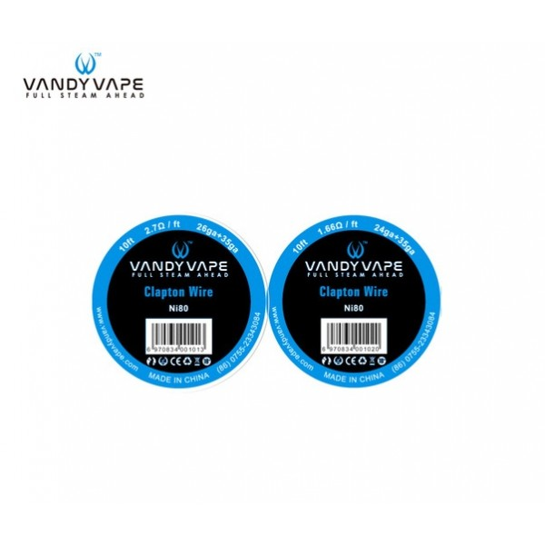 VANDY VAPE NI80 CLAPTON WIRE 10FT