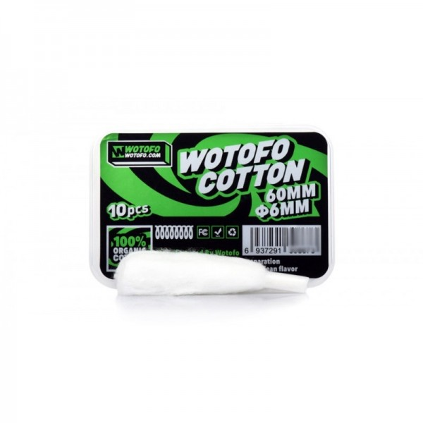 WOTOFO ORGANIC  AGLATED COTTON 6mm