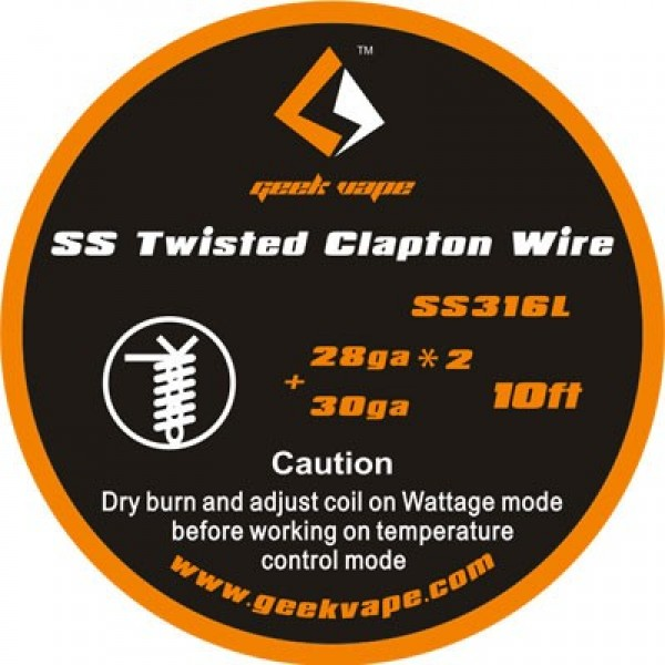 GEEKVAPE SS316L TWISTED CLAPTON WIRE