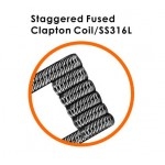 GEEKVAPE STAGGERED FUSED CLAPTON SS316L COILS