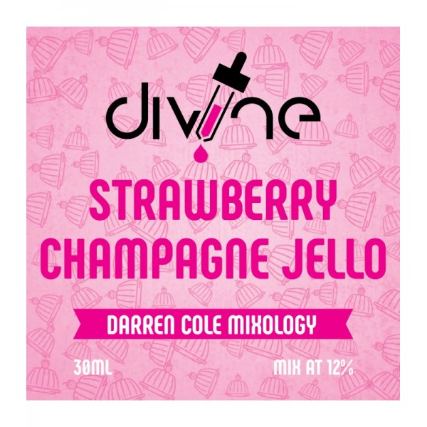 DIVINE SHOTS STRAWBERRY CHAMPAGNE JELLO 30ML