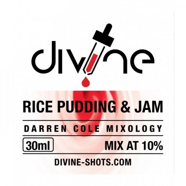 DIVINE SHOTS RICE PUDDING AND JAM 30ml