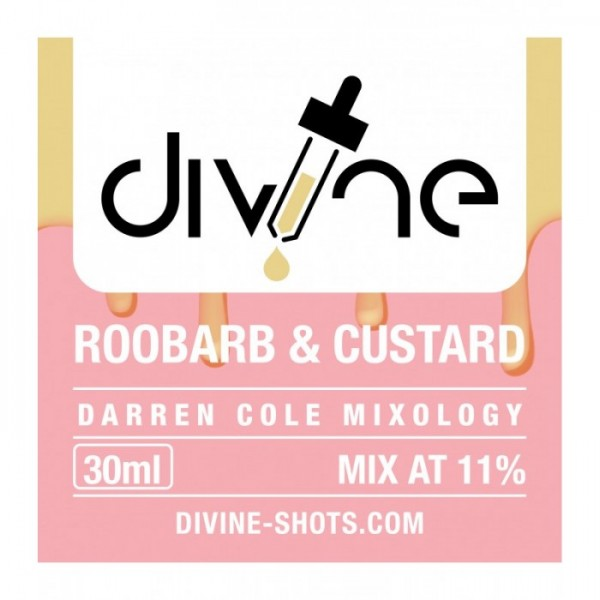 DIVINE SHOTS ROOBARB & CUSTARD 30ml